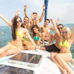 Friends Yachting in Playa del Carmen Mexico